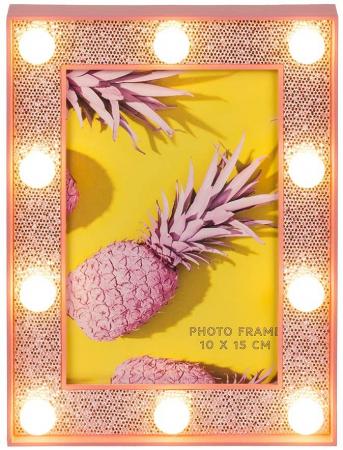 Rama foto cu led- Pink glitter0