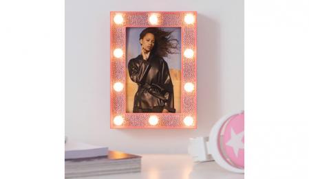 Rama foto cu led- Pink glitter2