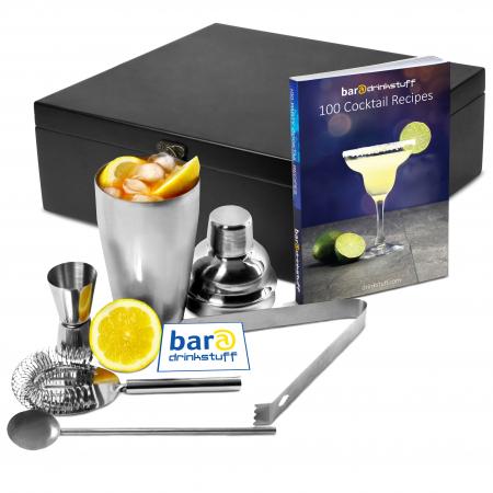 Set cadou Cocktail Manhattan Nights (5 piese) + cartea 100 Retete de cocktail0