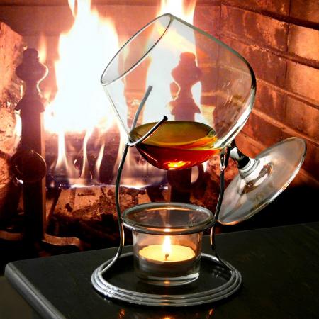 Suport incalzitor cu pahar Cognac [0]