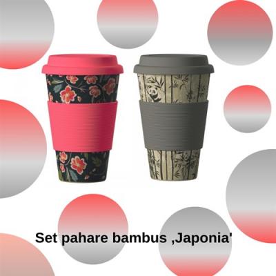 Set pahare bambus ,Japonia'0