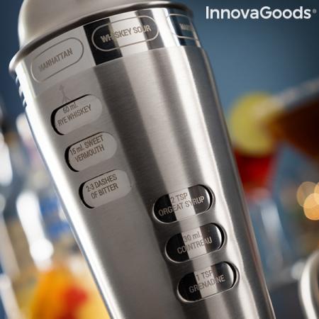 Shaker cu retete de cocktailuri integrate2