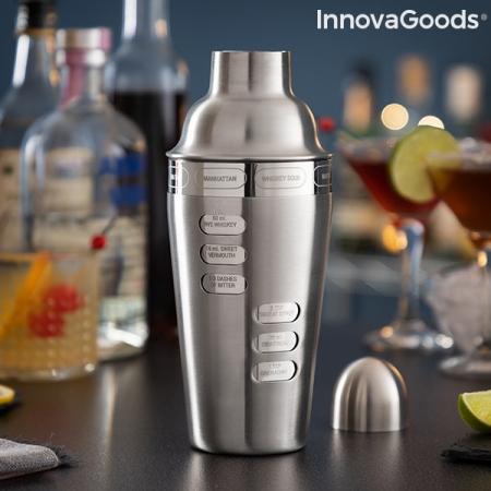 Shaker cu retete de cocktailuri integrate0