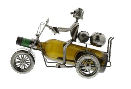 Suport sticle vin Motocicleta Clasica1