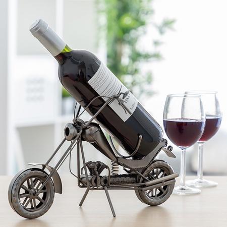 Suport sticle vin Motocicleta Chopper1