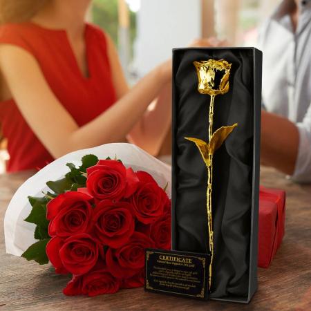 Trandafir placat cu aur0