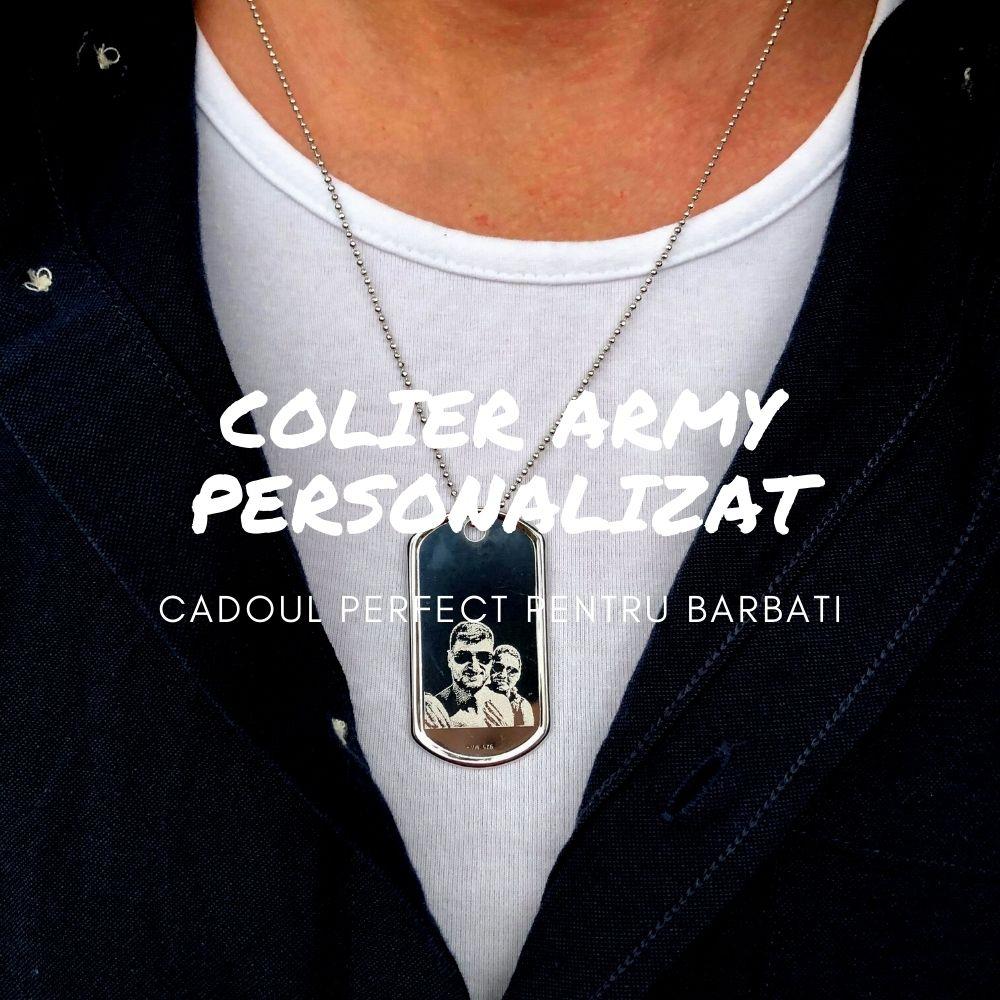 Lant Army Argint - Cadouri pentru barbati cu care mergi la sigur