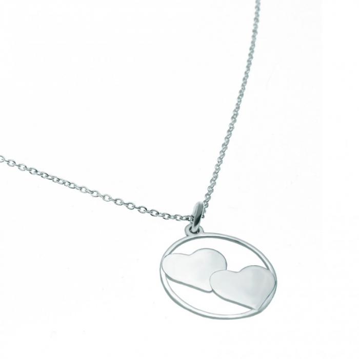 Lantisor argint cu pandantiv inimioara personalizat cu initiale [1]
