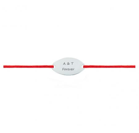 Bratara snur oval argint 925 gravat text [0]