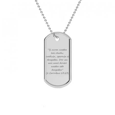 Lant argint barbati Army personalizat gravura text [0]