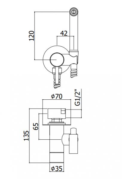 ALL IN ONE Incastrat - Geberit + Cersanit Delphi - Cu dus Igienic - Gata de montaj - Vas wc Suspendat Cersanit Delphi + Capac softclose + Rezervor Geberit 9