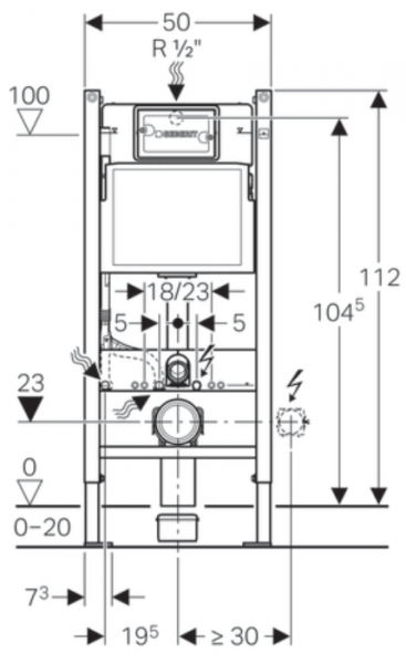 ALL IN ONE Incastrat - Geberit + Grohe + Eurovit - Cu functie bideu - Gata de montaj - Vas wc Ideal Standard Eurovit cu functie bideu + Capac softclose + Rezervor Geberit + Baterie incastrata Grohe 13