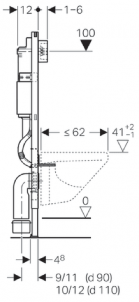 ALL IN ONE Incastrat - Geberit + Grohe + Eurovit - Cu functie bideu - Gata de montaj - Vas wc Ideal Standard Eurovit cu functie bideu + Capac softclose + Rezervor Geberit + Baterie incastrata Grohe 14