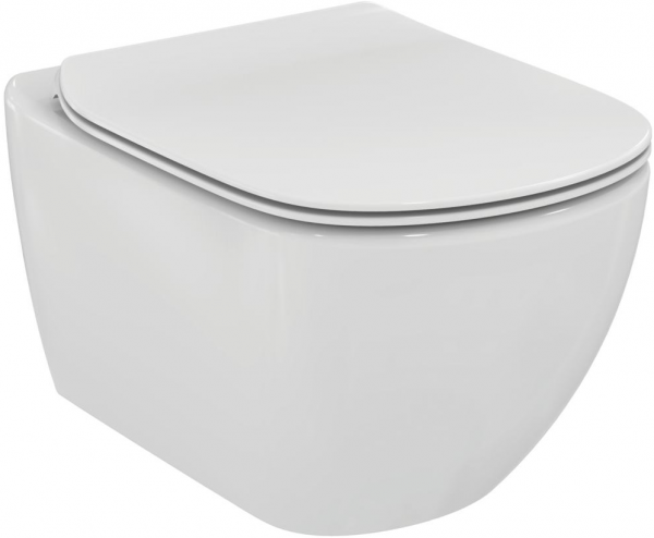 ALL IN ONE Incastrat - Geberit + Ideal Standard Tesi Aquablade + Paffoni - Cu dus Igienic - Gata de montaj - Vas wc Suspendat Ideal Standard Tesi Aquablade + Capac softclose + Rezervor Geberit 2