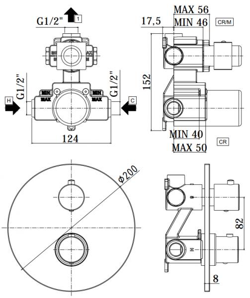 ALL IN ONE Incastrat - Geberit + Paffoni cu termostat + Vas wc Suspendat Ideal Standard Eurovit - Cu functie de bideu - Gata de montaj - Vas wc Suspendat Ideal Standard Eurovit cu functie de bideu + C 14