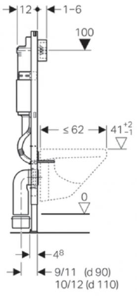 ALL IN ONE Incastrat - Geberit + Paffoni cu termostat + Vas wc Suspendat Ideal Standard Eurovit - Cu functie de bideu - Gata de montaj - Vas wc Suspendat Ideal Standard Eurovit cu functie de bideu + C 13