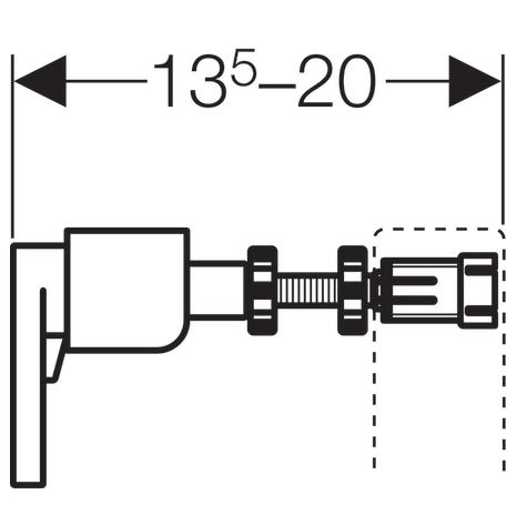 ALL IN ONE Incastrat - Geberit + Paffoni cu termostat + Vas wc Suspendat Ideal Standard Eurovit - Cu functie de bideu - Gata de montaj - Vas wc Suspendat Ideal Standard Eurovit cu functie de bideu + C 7
