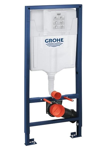 ALL IN ONE Incastrat - Grohe + Cersanit Delphi - Cu dus Igienic - Gata de montaj - Vas wc Suspendat Cersanit Delphi + Capac softclose + Rezervor Grohe 1
