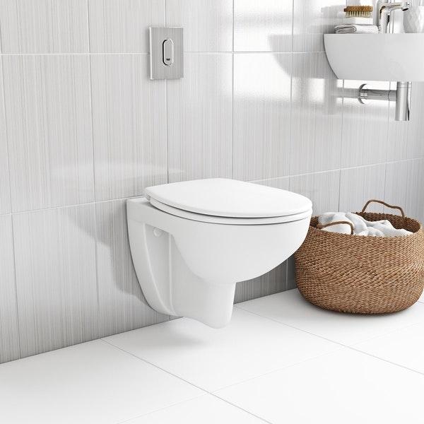 ALL IN ONE Incastrat - Ideal Standard + Grohe Bau Ceramic Rimless + Paffoni - Cu dus Igienic 11