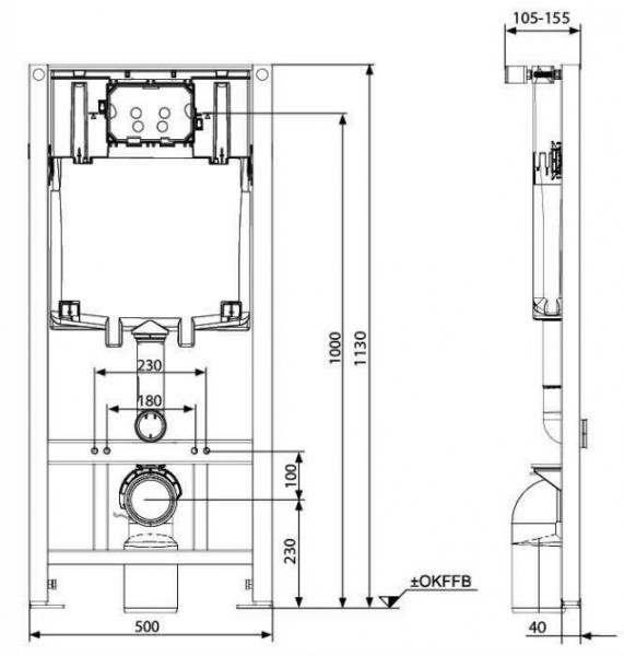 ALL IN ONE Incastrat - KOLO + Grohe + Eurovit - Cu functie bideu - Gata de montaj - Vas wc Ideal Standard Eurovit cu functie bideu + Capac softclose + Rezervor KOLO + Baterie incastrata Grohe 5