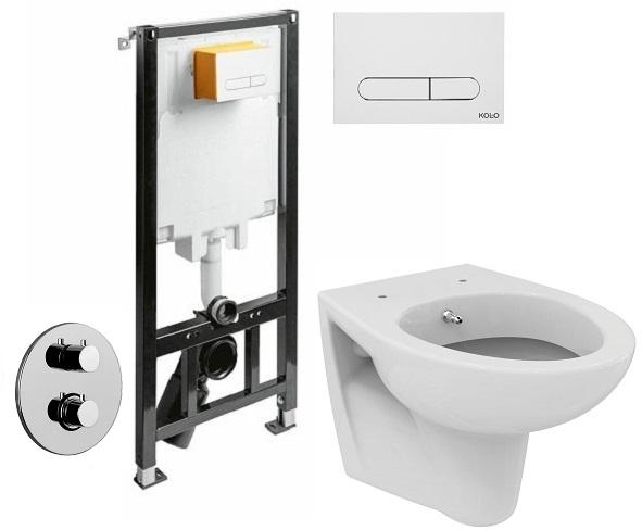 ALL IN ONE Incastrat - KOLO + Paffoni cu termostat + Vas wc Suspendat Ideal Standard Eurovit - Cu functie de bideu - Gata de montaj - Vas wc Suspendat Ideal Standard Eurovit cu functie de bideu + Capa 0