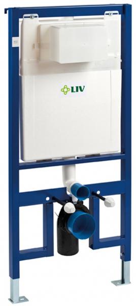 ALL IN ONE Incastrat - LIV 9 CM + Paffoni cu termostat + Vas wc Suspendat Vitra S50 - Cu functie de bideu - Gata de montaj - Vas wc Suspendat Vitra S50 cu functie de bideu + Capac softclose + Rezervor 8
