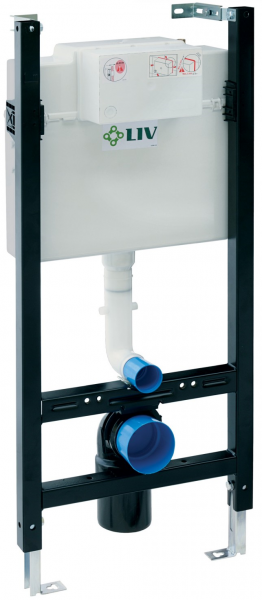 ALL IN ONE Incastrat - LIV + Cersanit Delphi - Cu dus Igienic - Gata de montaj - Vas wc Suspendat Cersanit Delphi + Capac softclose + Rezervor LIV [1]