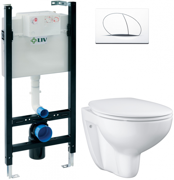 ALL IN ONE Incastrat - LIV + Grohe Bau Ceramic Rimless - Gata de montaj 0