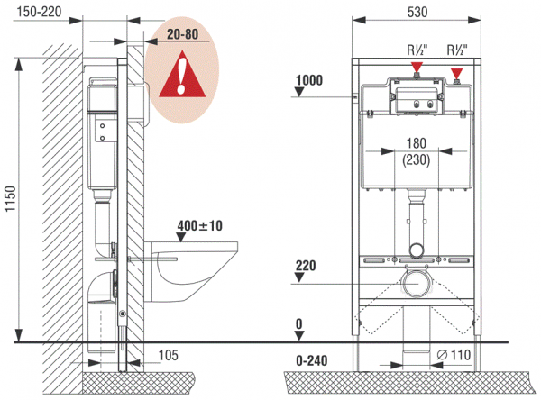 ALL IN ONE Incastrat - LIV + Paffoni + Vitra S50 RIMEX - Cu functie bideu - Gata de montaj - Vas wc Vitra S50 RIMEX cu functie bideu + Capac softclose + Rezervor LIV + Baterie incastrata bideu Paffoni 11