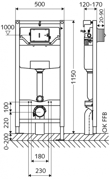 ALL IN ONE Incastrat - Schell + Cersanit Delphi - Gata de montaj - Vas wc Suspendat Cersanit Delphi + Capac softclose + Rezervor Schell 3