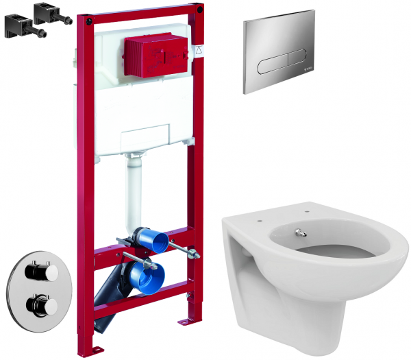 ALL IN ONE Incastrat - Schell + Paffoni cu termostat + Vas wc Suspendat Ideal Standard Eurovit - Cu functie de bideu - Gata de montaj - Vas wc Suspendat Ideal Standard Eurovit cu functie de bideu + Ca [0]