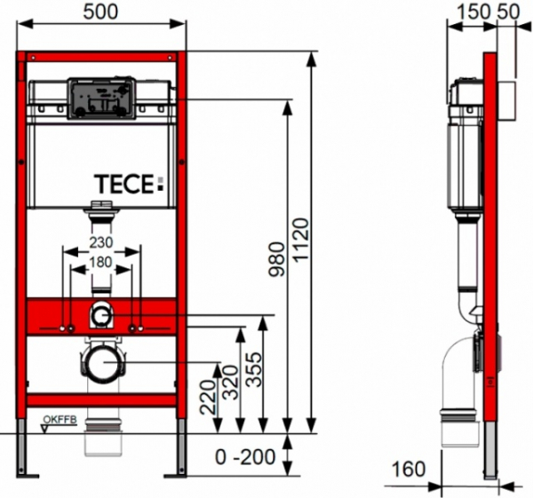 ALL IN ONE Incastrat - TECE + Cersanit Delphi  - Cu dus Igienic - Gata de montaj - Vas wc Suspendat Cersanit Delphi + Capac softclose + Rezervor TECE 4
