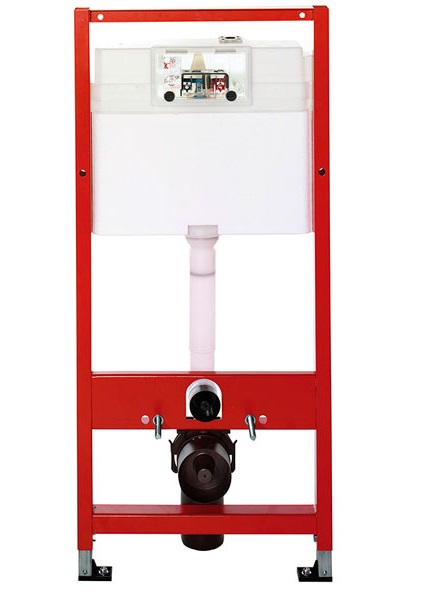 ALL IN ONE Incastrat - TECE + Cersanit Delphi  - Cu dus Igienic - Gata de montaj - Vas wc Suspendat Cersanit Delphi + Capac softclose + Rezervor TECE 6