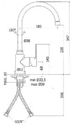 Baterie bucatarie Paffoni BLU [1]