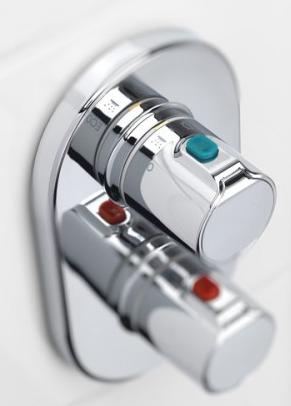 Baterie cada incastrata termostatata Roca T500 - Corp ingropat inclus 2