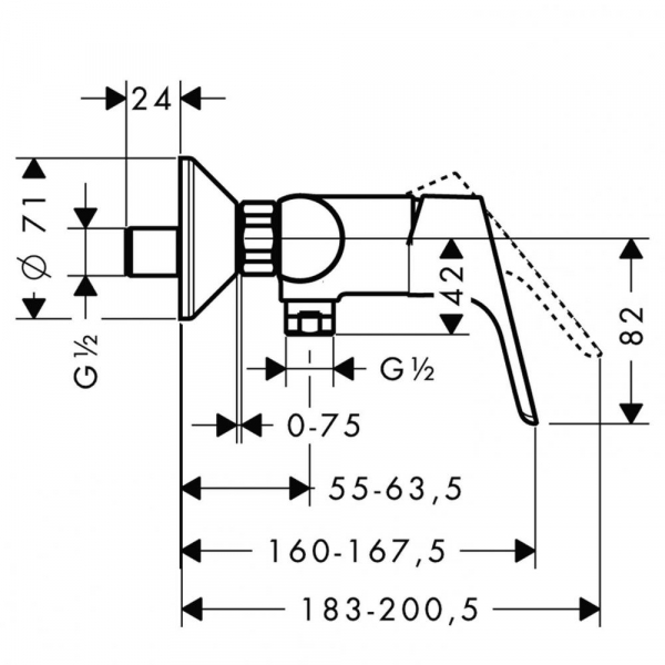 Baterie dus Hansgrohe Focus 1