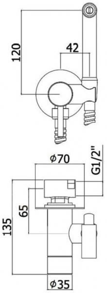 Baterie dus igienic incastrata Paffoni BLU - Corp ingropat inclus  1