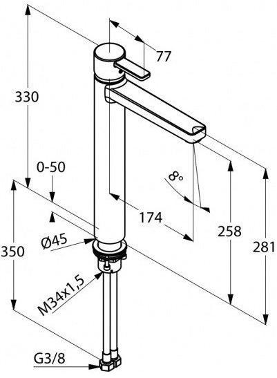 Baterie lavoar Kludi Zenta - Pentru lavoare tip bol [1]
