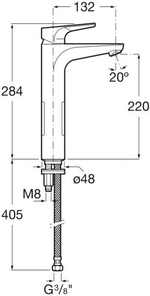 Baterie lavoar Roca Atlas - Pentru lavoare tip bol 1