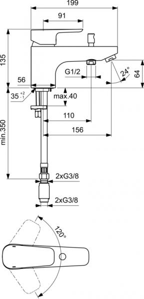 Baterie pe cada Ideal Standard Ceraplan III 1