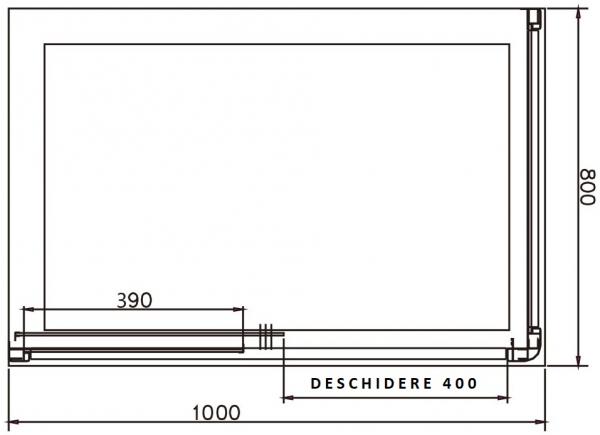 Cabina de dus dreptunghiulara Belform Clear 100x80 5