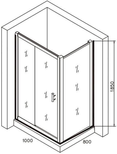 Cabina de dus dreptunghiulara Belform Clear 100x80 4