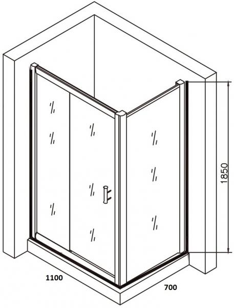 Cabina de dus dreptunghiulara Belform Clear 110x70 6