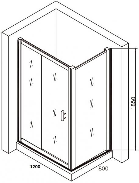 Cabina de dus dreptunghiulara Belform Clear 120x80 5