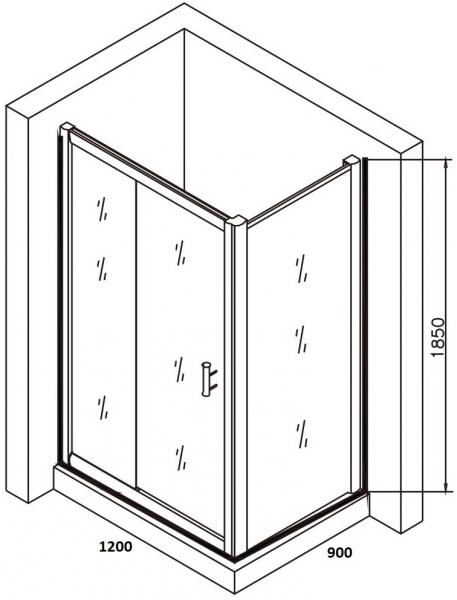 Cabina de dus dreptunghiulara Belform Clear 120x90 5