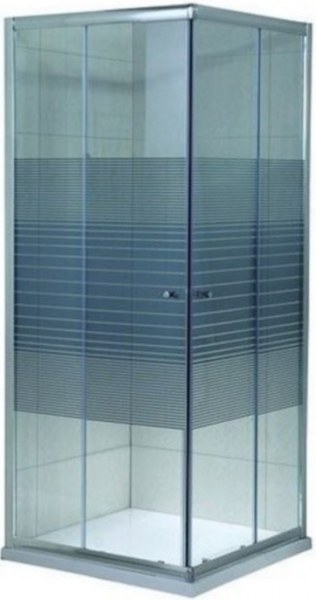 Cabina de dus patrata Belform Grid 80x80 - geam 6mm 2