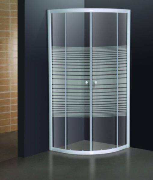 Cabina de dus semirotunda Belform Grid 90x90 1