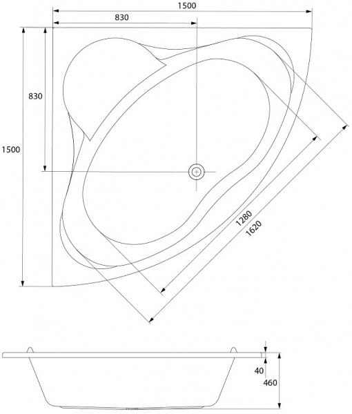 Cada Baie Acril Cersanit Venus 150x150 5