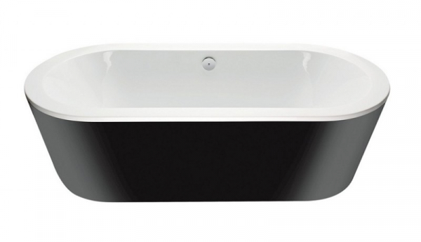 Cada Baie Compozit Besco Victoria 160x75 cu masca neagra si sifon inclus 2