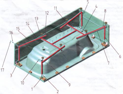 Cadru H sudat pentru fixare cada dreapta Fibrocom [0]